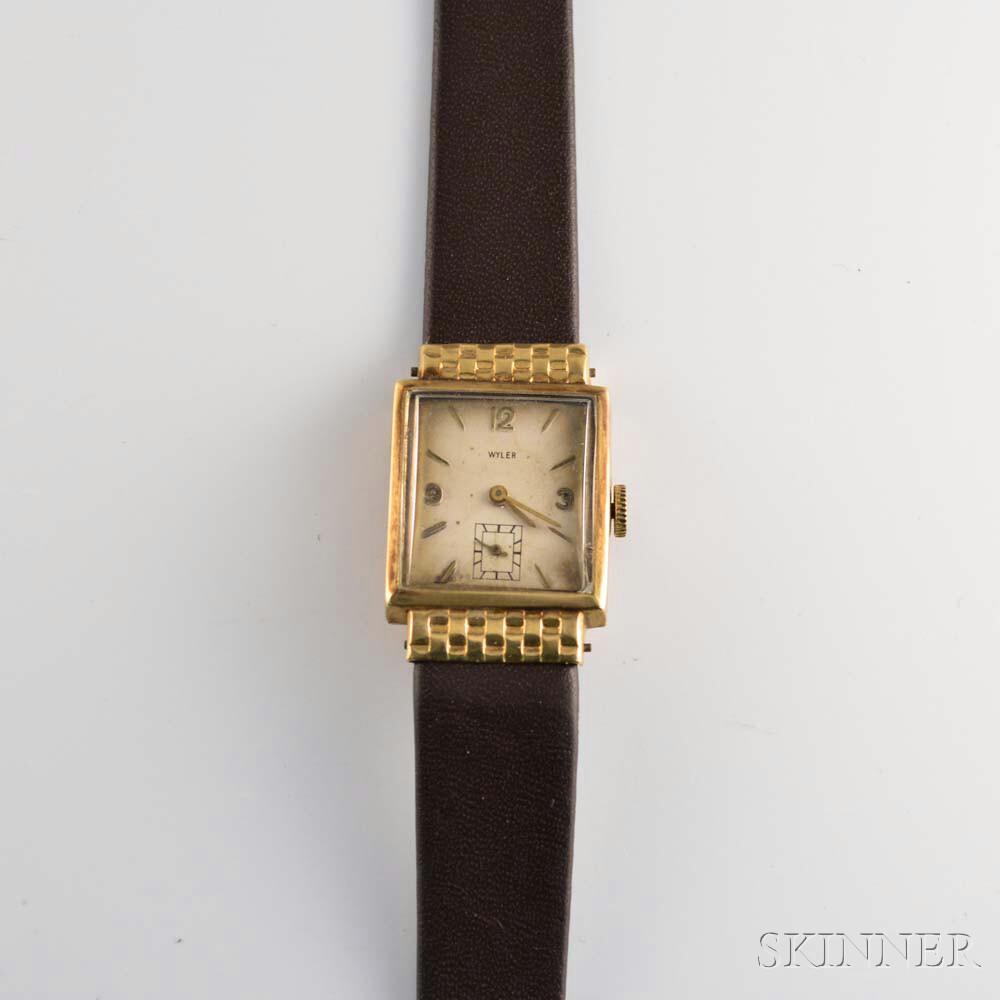 Lady's Wyler 14kt Gold Wristwatch