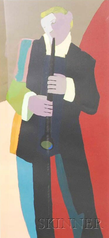 Framed Print of a Clarinet Player