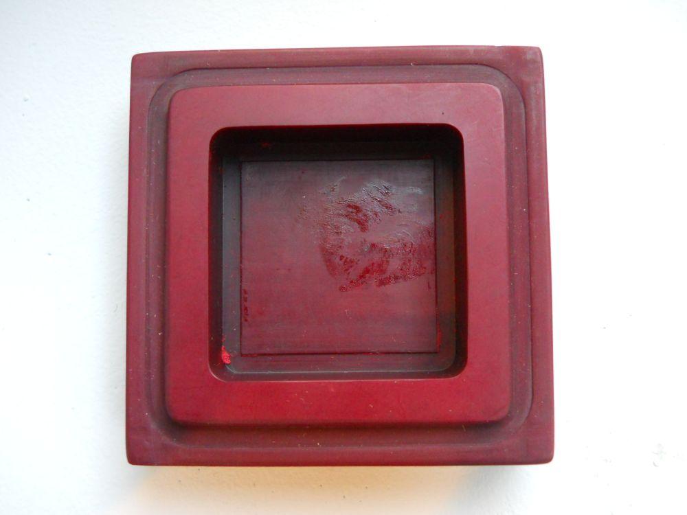 Red Stone Seal Paste Box