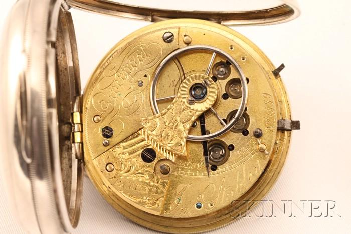 Silver Consular Case Single Roller Watch by John Stubley