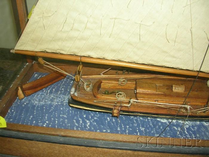 Cased Yacht Model