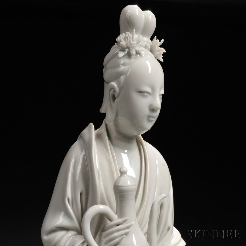 Blanc-de-Chine Figure of Ma Gu
