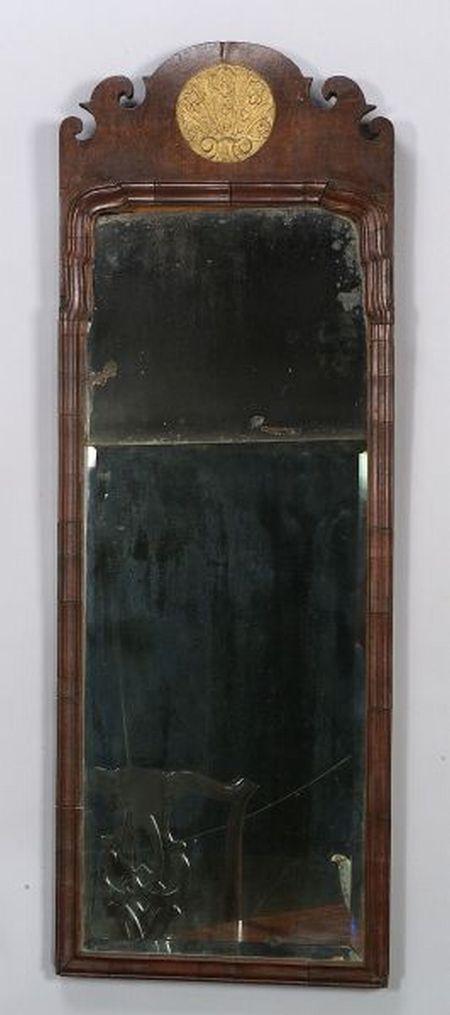 Queen Anne Walnut Parcel-gilt Mirror