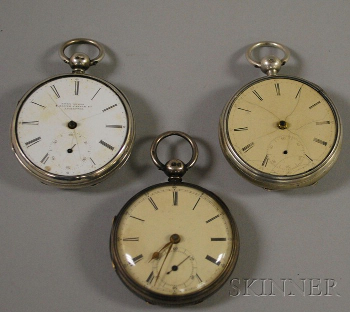 Three Mid-19th Century Lever Watches by Bellion, Doke, and Owens