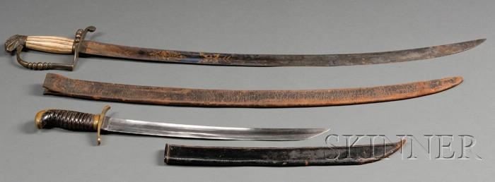 War of 1812 Officer's Eagle Pommel Sword and Another Short Sword
