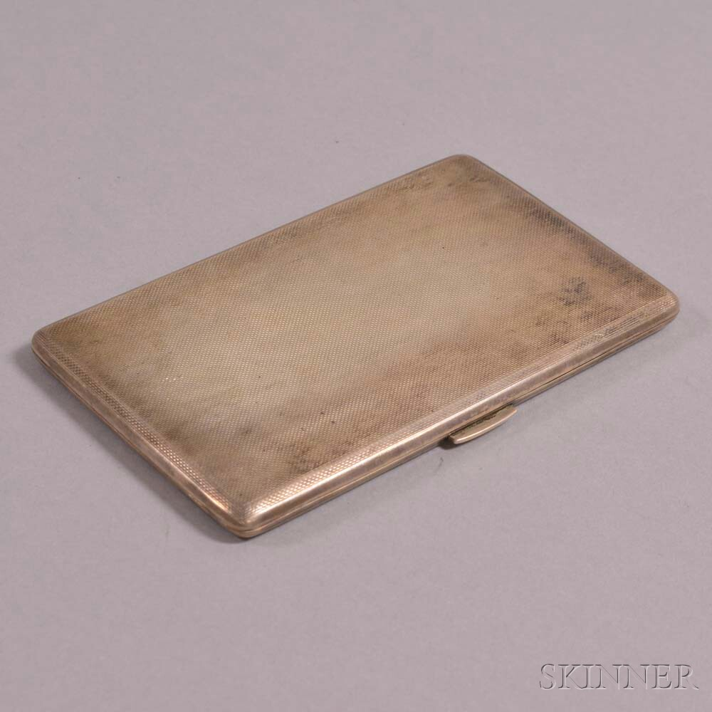 a084306a7ec2 English Sterling Silver Cigarette Case