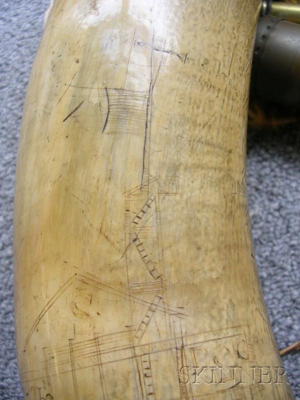 Engraved Powder Horn