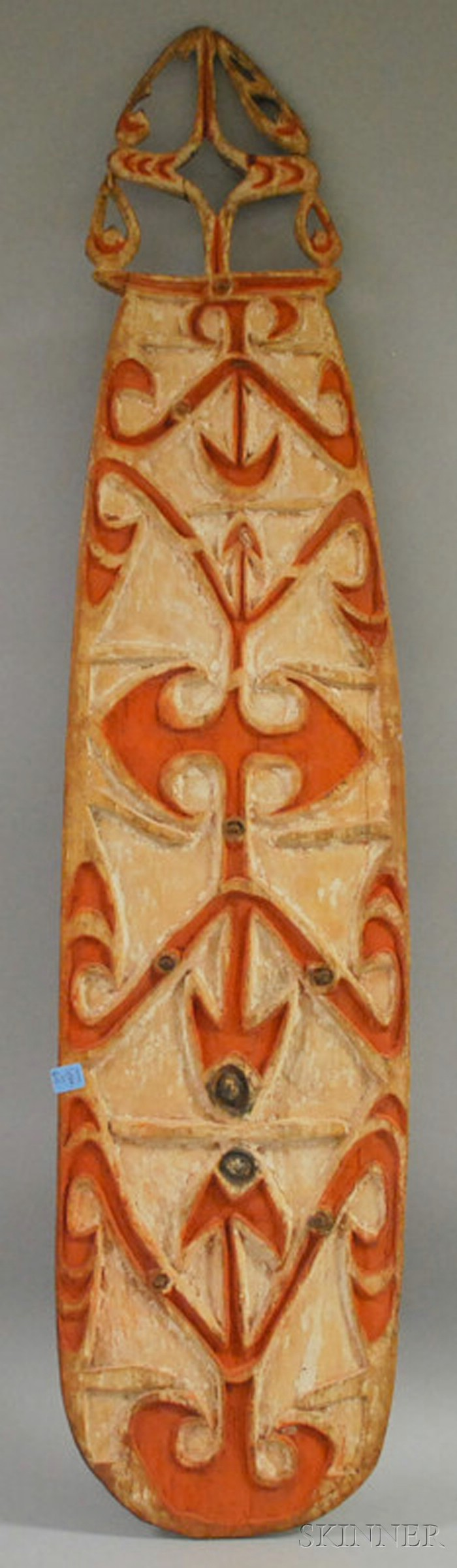 New Guinea Carved and Painted Shield