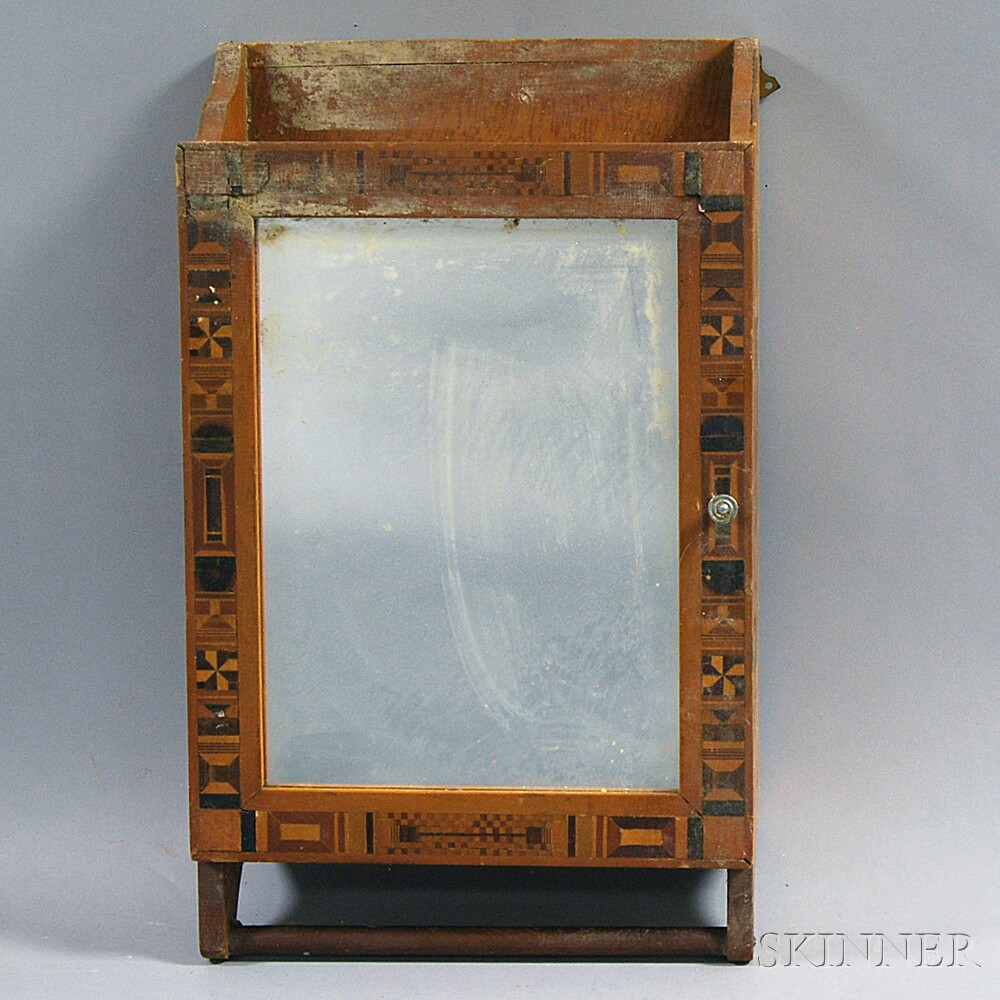 Parquetry-inlaid Hanging Cabinet