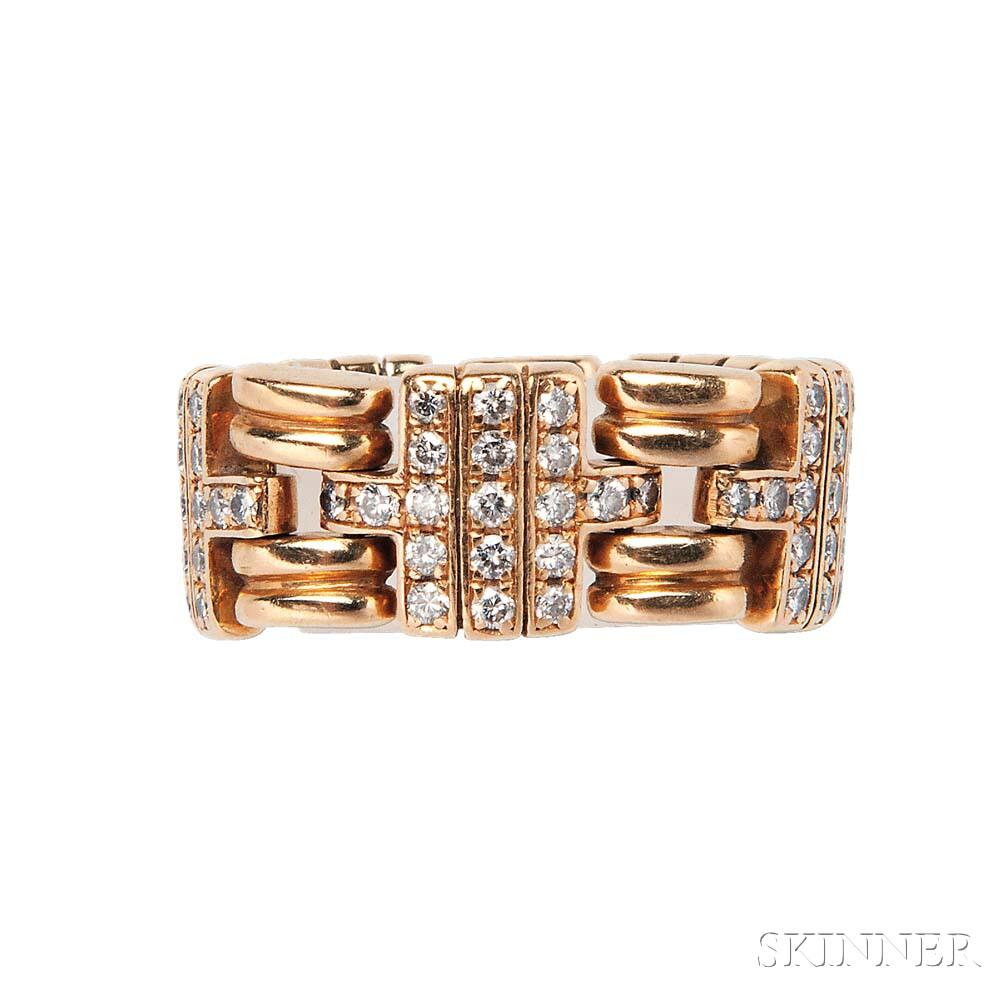 18kt Gold and Diamond Ring, Bulgari
