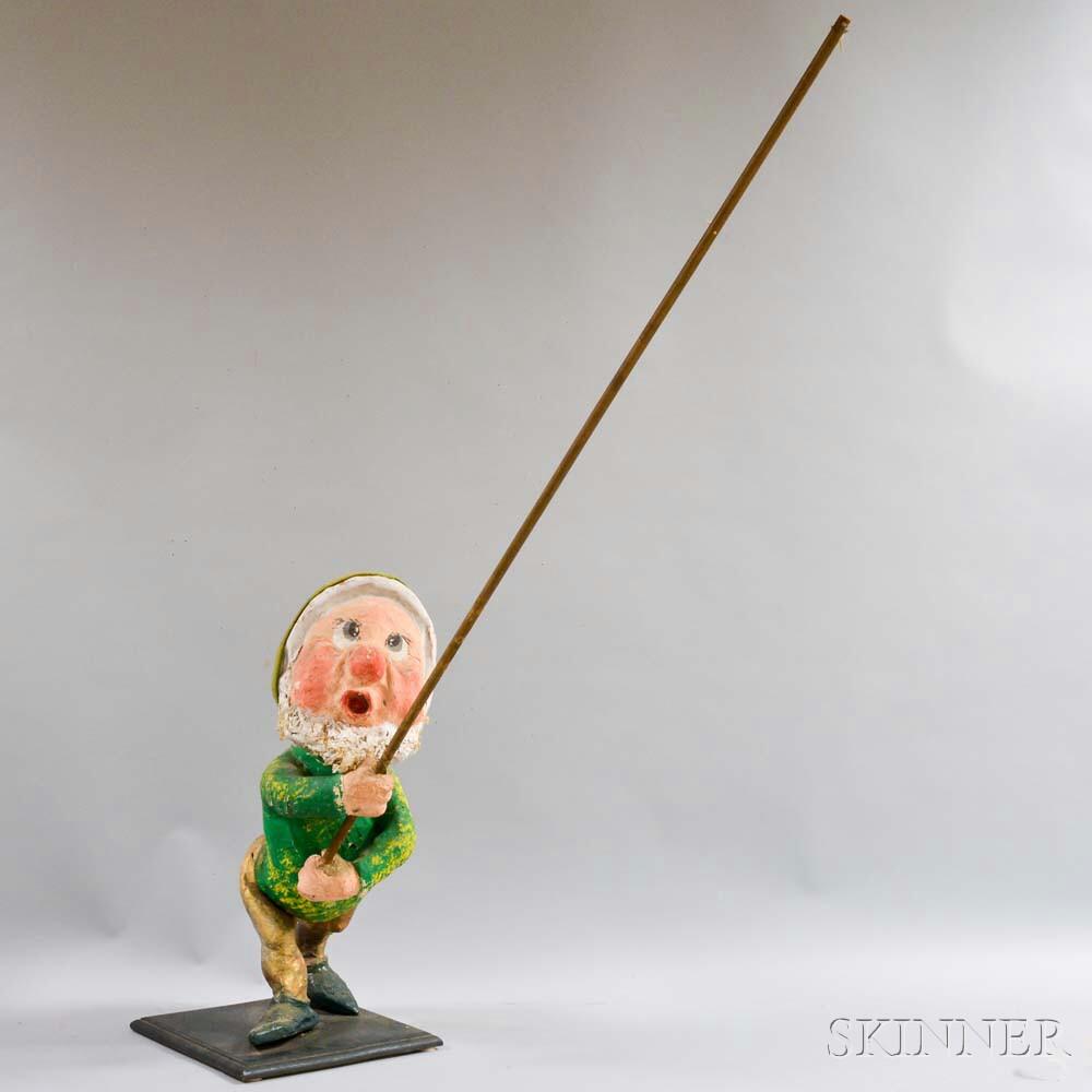 Papier-mache Dwarf Figure