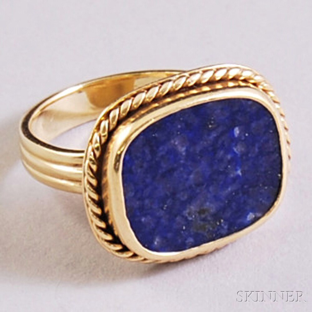 14kt Gold and Lapis Ring