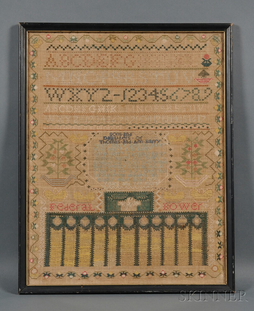 """""""Federal Bower"""" Needlework Family Record"""