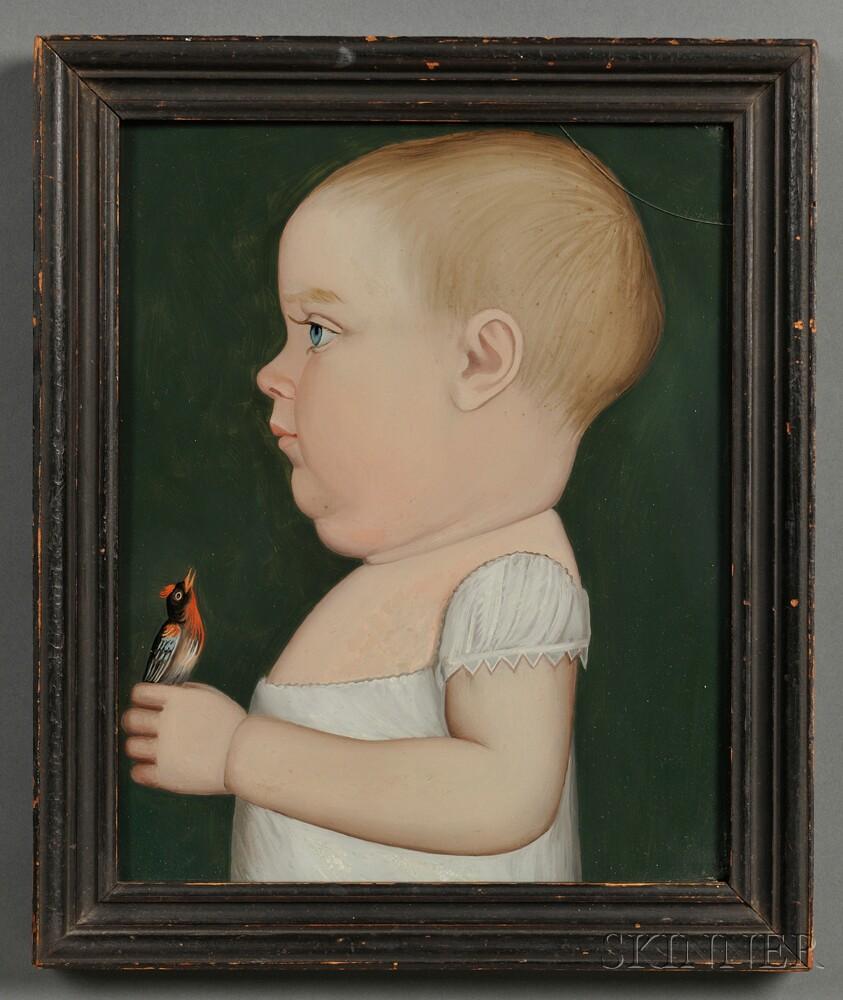 Benjamin Greenleaf (Massachusetts/New Hampshire, 1769-1821) Portrait of George Brackett of Randolph, Vermont, Age 11 Months, Holding a