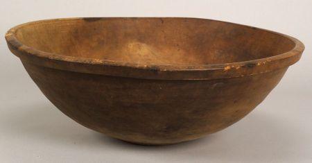 Large Turned Pine Bowl