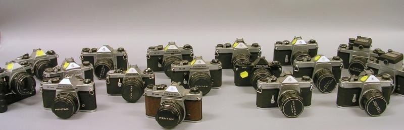 Sixteen Pentax SLR Cameras