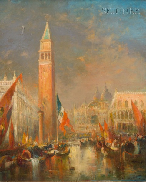 Lucien Whiting Powell (American, 1846-1930)      The Campanile and San Marco, Venice
