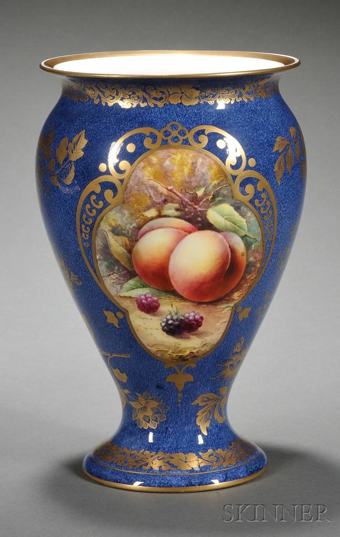 Wedgwood Powder Blue Lustre Bone China Vase