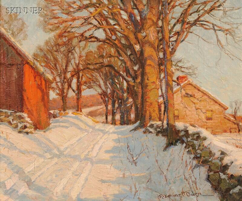 Robert Emmett Owen (American, 1878-1957)      A Country Road in Winter
