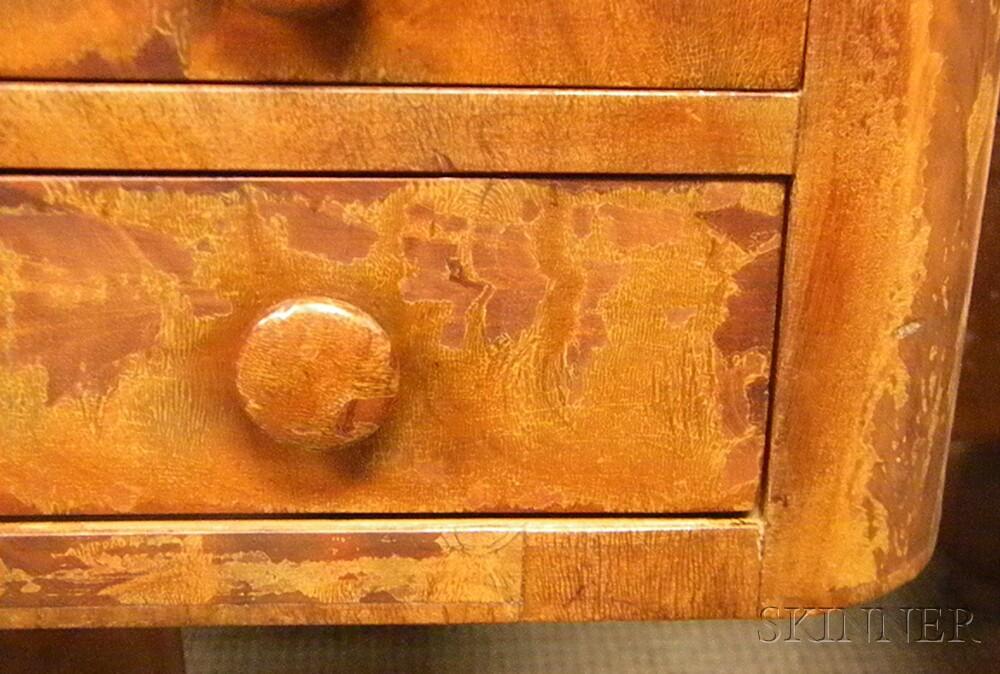Classical Mahogany and Mahogany Veneer Three-drawer Pedestal-base Work Table.     Estimate $300-500