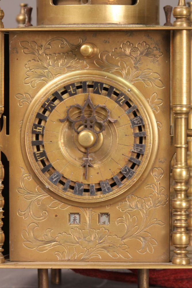 Japanese Combination Lantern Clock and Pillar Clock