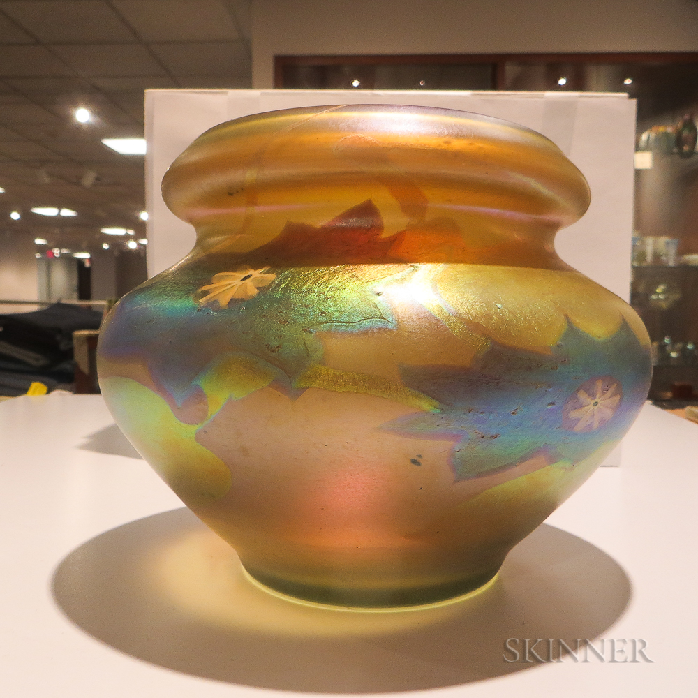 Tiffany millefiori and favrile glass decorated vase sale number tiffany millefiori and favrile glass decorated vase reviewsmspy