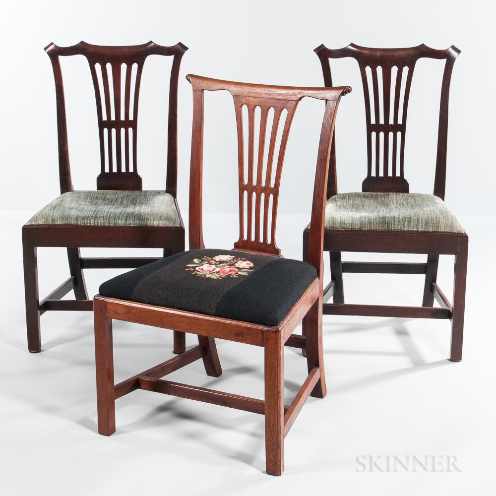 Three Mahogany Side Chairs