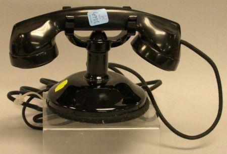 Art Deco Black Bakelite Internal Telephone Receiver