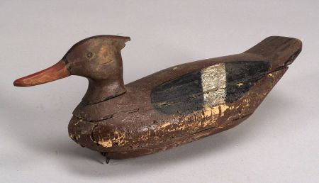 Carved and Painted Merganser Duck Decoy