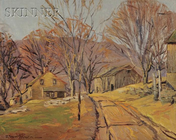 Robert Emmett Owen (American, 1878-1957)      A Small Settlement on a Side Road near Kent