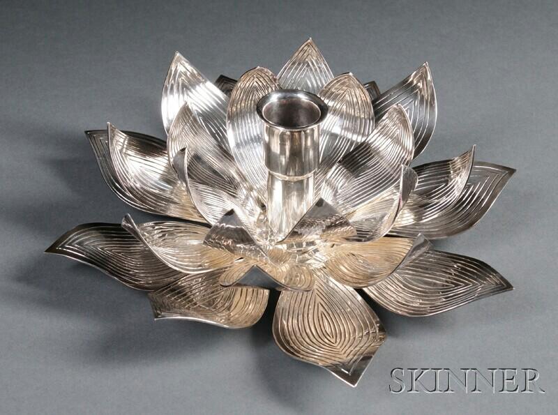 Henry Petzal Silversmith (1906-2002) Candleholder
