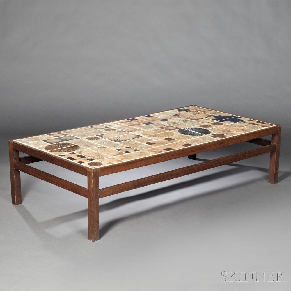Mid-Century Modern Tile-top Coffee Table