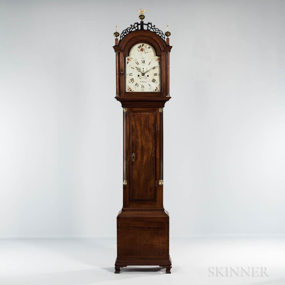 Mahogany Inlaid Tall Case Clock