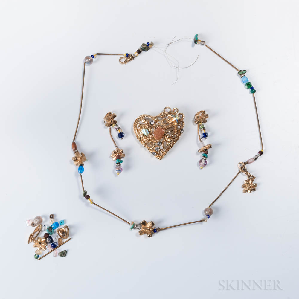 Three Pieces of Christian LaCroix Costume Jewelry