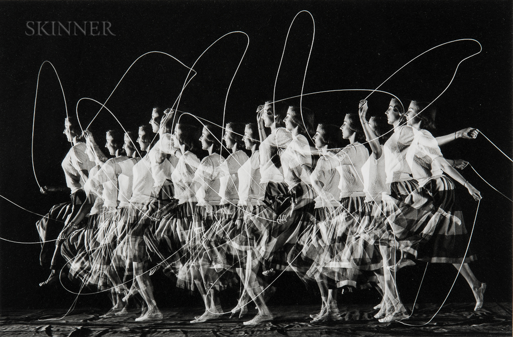 "Harold E. ""Doc"" Edgerton (American, 1903-1990)      Moving Skip Rope"