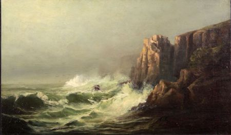 Attributed to Harrison Bird Brown (American, 1831-1915)    Crashing Surf