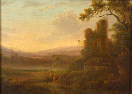 Attributed to Julius Caesar Ibbetson (British, 1759-1817)    Near Masham, Yorkshire