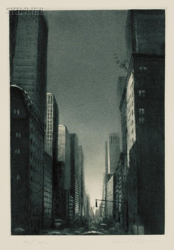 Richard C. Harden (American, b. 1956)      Lot of Five Industrial Views: Manhattan Avenue