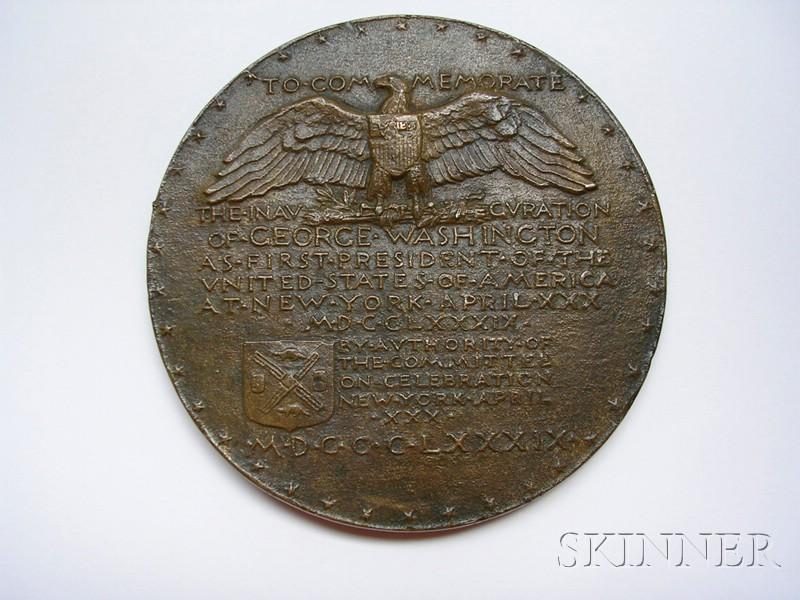 George Washington Bronze Inaugural Centennial Medal