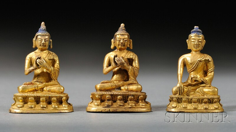 Three Small Gilt-bronzes