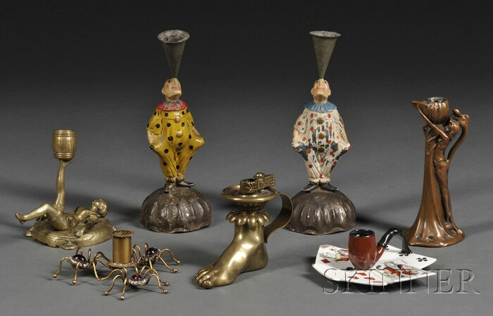 Group of Seven Whimsical Candle Holders