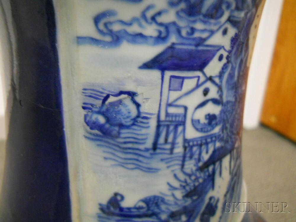 Large Blue and White Vase