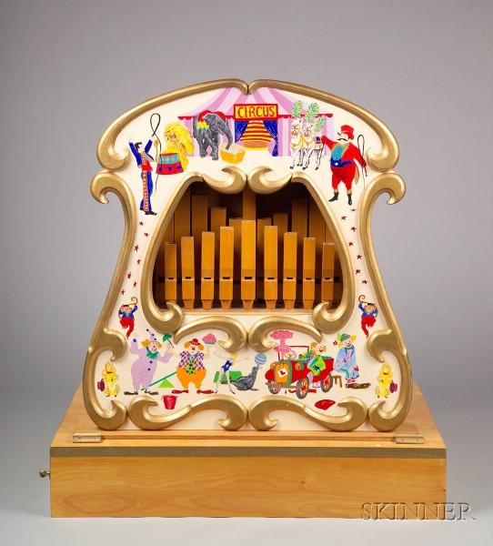 English Book-Playing Street Organ