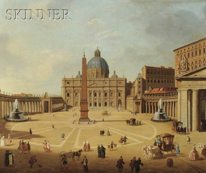 After Giovanni Paolo Pannini (Italian, 1691-1765)      View of St. Peter's Square, Rome