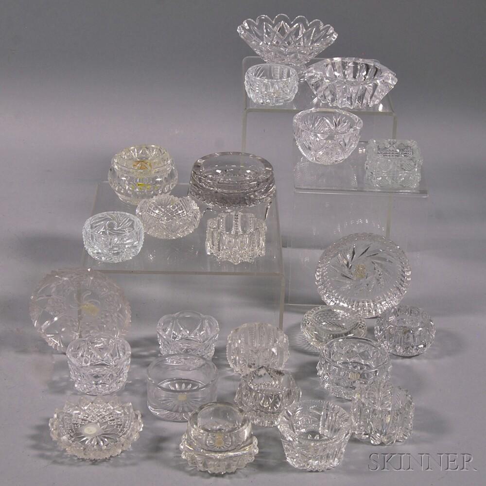 Twenty-four Colorless Glass Salts