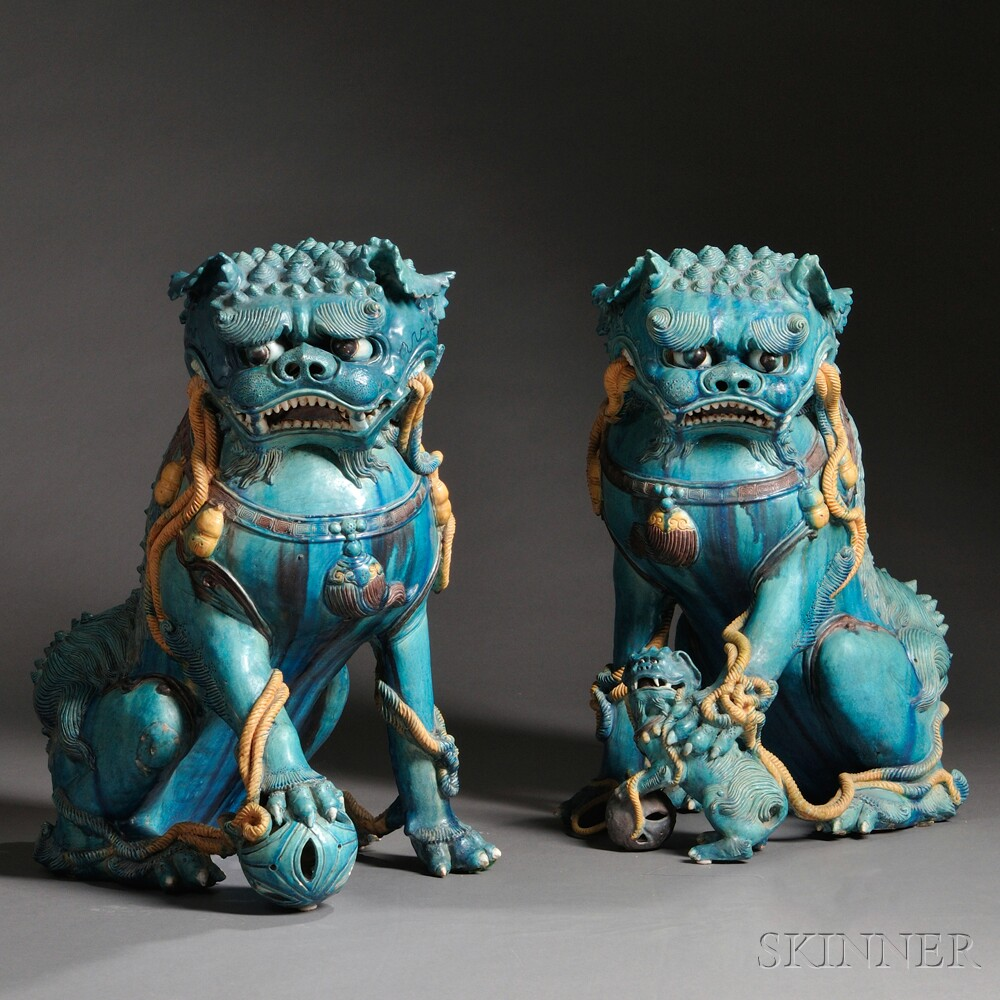 Pair of Large Buddhist Lions