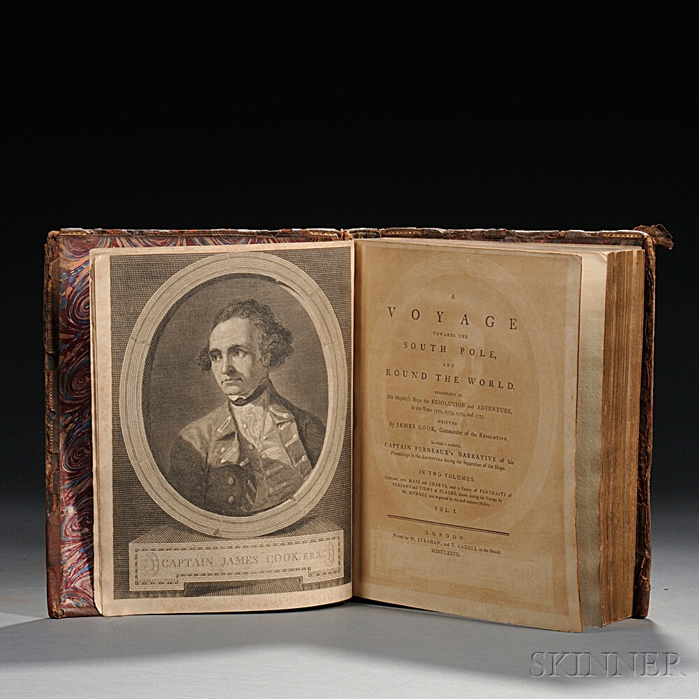 Cook's Second Voyage, Captain James Cook (1728-1779) A Voyage Towards the South Pole and Round the World