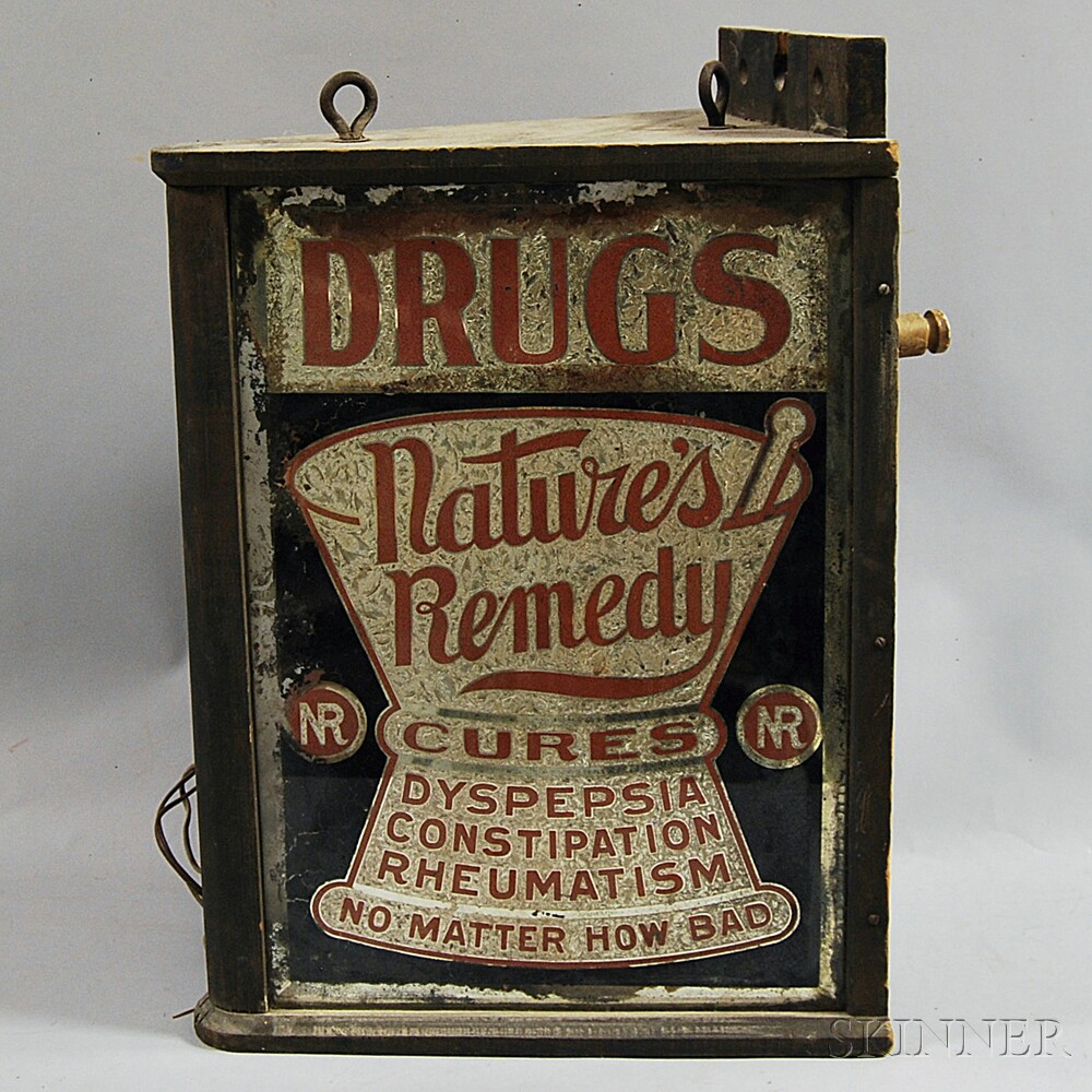 """""""Nature's Remedy"""" Advertising Sign"""