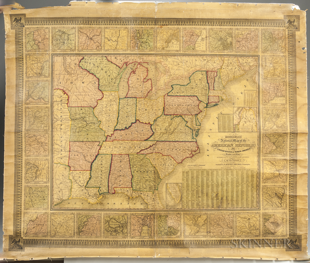 Mitchell's National Map of the American Republic or United States of North America.