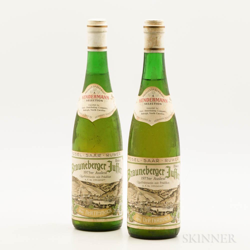 Dr. Thanisch Brauneburger Juffer Auslese 1975, 2 bottles